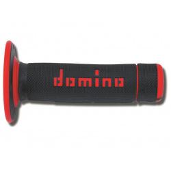 Revêtements DOMINO A020 Bicolore MX semi-gaufré noir/rouge