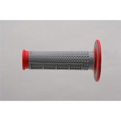 Revêtements RENTHAL MX Taper picots/semi-gauffré gris/rouge