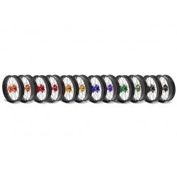 Kit roues complètes avant + arrière ART SM 17x3,50/17x4,50 jante noir/moyeu orange KTM
