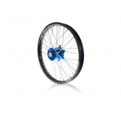 Kit roues complètes avant + arrière ART MX 21x1,60/19x1,85 jante noir/moyeu bleu Suzuki