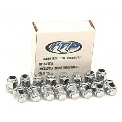 Kit écrou ITP plat chromé 12/17mm - Boite de 16