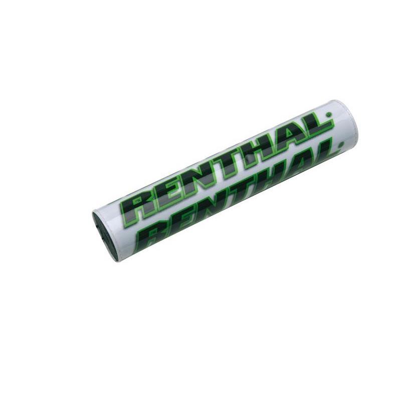 Mousse de guidon RENTHAL SX 240mm blanc/vert