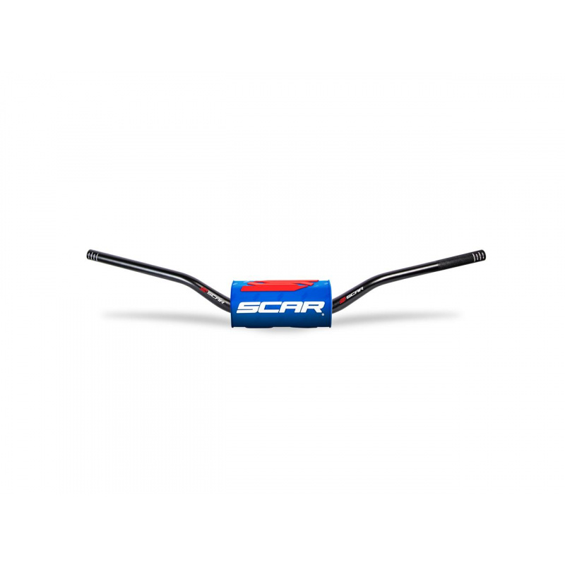 Guidon SCAR O² Ø28,6mm sans barre noir/mousse bleu