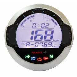 Compteur digital LCD mutlifonctions KOSO DL-03S GP Style rond universel