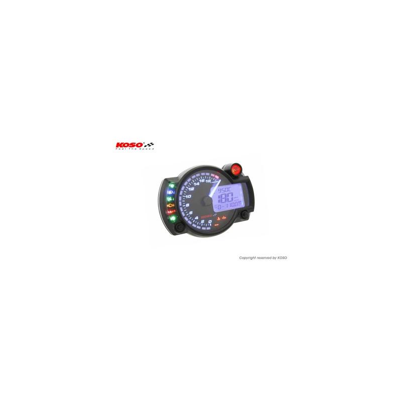 Compteur digital multifonction KOSO RX2N+ GP Style universel (20 000 T/Min)