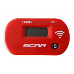 Compteur d'heures SCAR Sans-fil avec Velcro rouge