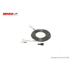 Câble compte-tours KOSO type B noir/blanc