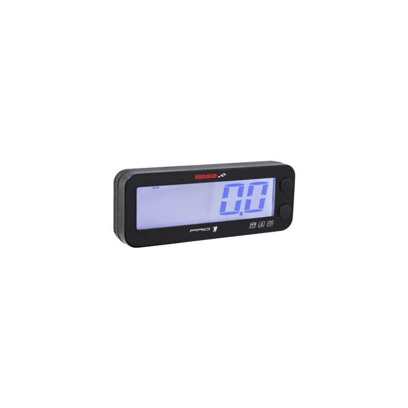 Compte-tours KOSO Pro-1 LCD multifonctions noir