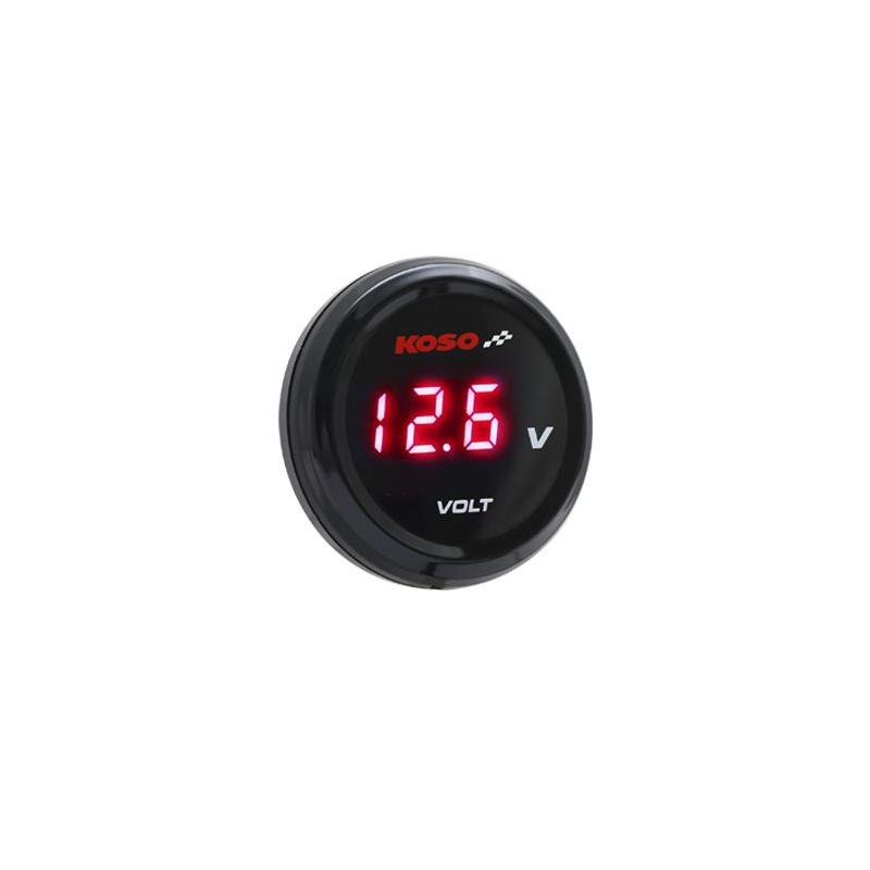 Voltmètre KOSO i-GEAR affichage rouge