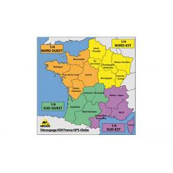 Carte IGN GPS Globe grande région 1/25000e