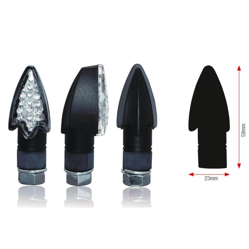 Clignotants BIHR Darts LED noir universel