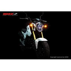 Clignotant KOSO Mars LED argent/translucide universel vendu à l'unité