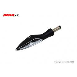 Clignotant KOSO Stinger LED noir/translucide universel vendu à l'unité
