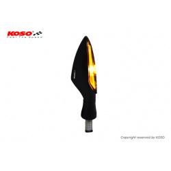 Clignotant KOSO Stinger LED noir/fumé universel vendu à l'unité