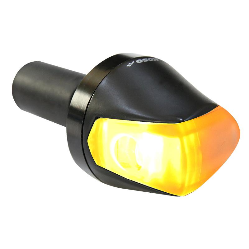 Clignotant KOSO Knight LED noir mat/fumé universel à l'unité
