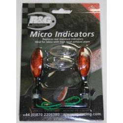 Micro clignotants R&G RACING support de plaque 443885