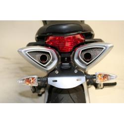 Support de plaque R&G RACING noir Aprilia Shiver 750