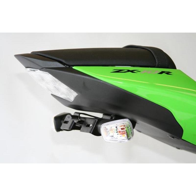 Support de plaque R&G RACING noir Kawasaki
