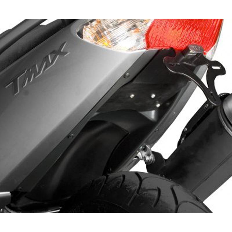 Support de plaque R&G RACING noir avec passage de roue Yamaha T-Max 500