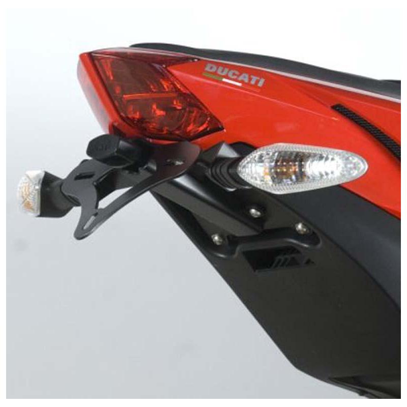 Support de plaque R&G RACING noir Ducati Streetfighter 848