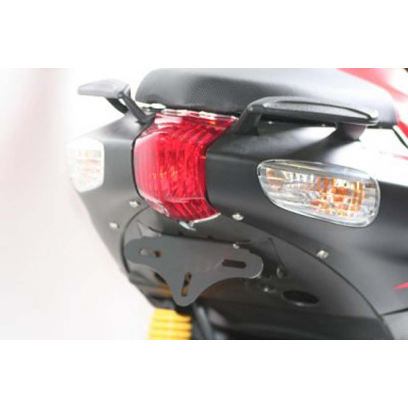 Support de plaque R&G RACING noir Aprilia SR50