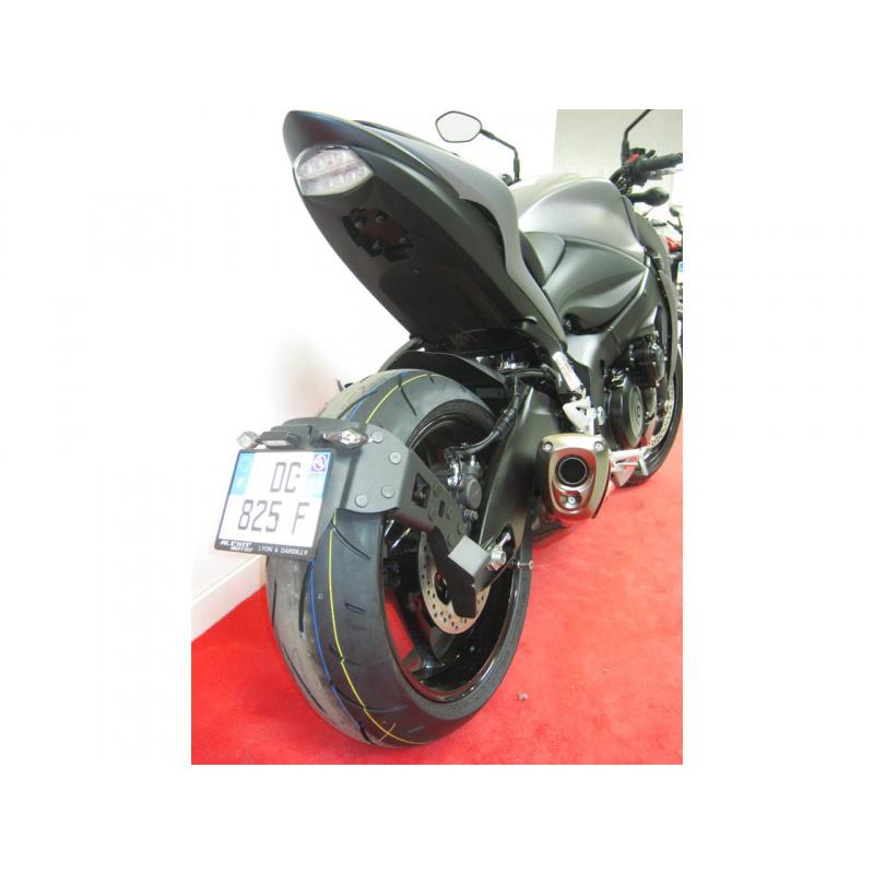 """Support de plaque ACCESS DESIGN déporté """"ras de roue"""" noir Suzuki GSX-S1000"""
