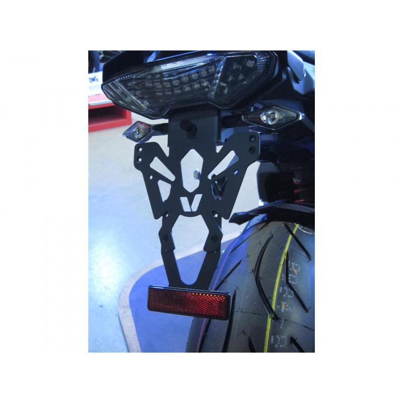 Support de plaque V PARTS noir Yamaha MT-09/MT-10