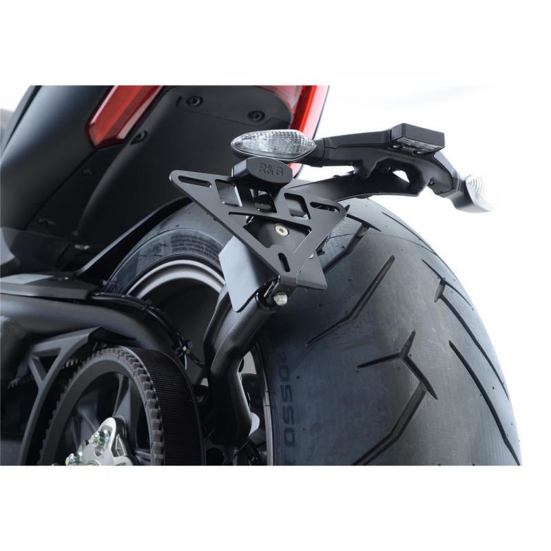 Support de plaque R&G RACING noir Ducati X Diavel