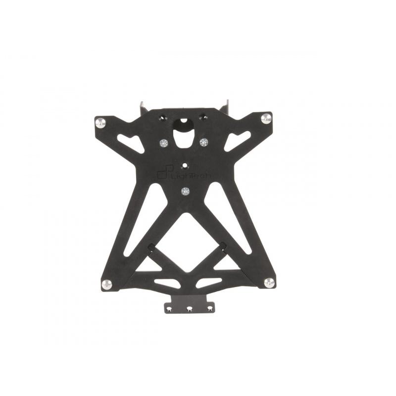 Support de plaque réglable LIGHTECH noir Yamaha YZF-R6