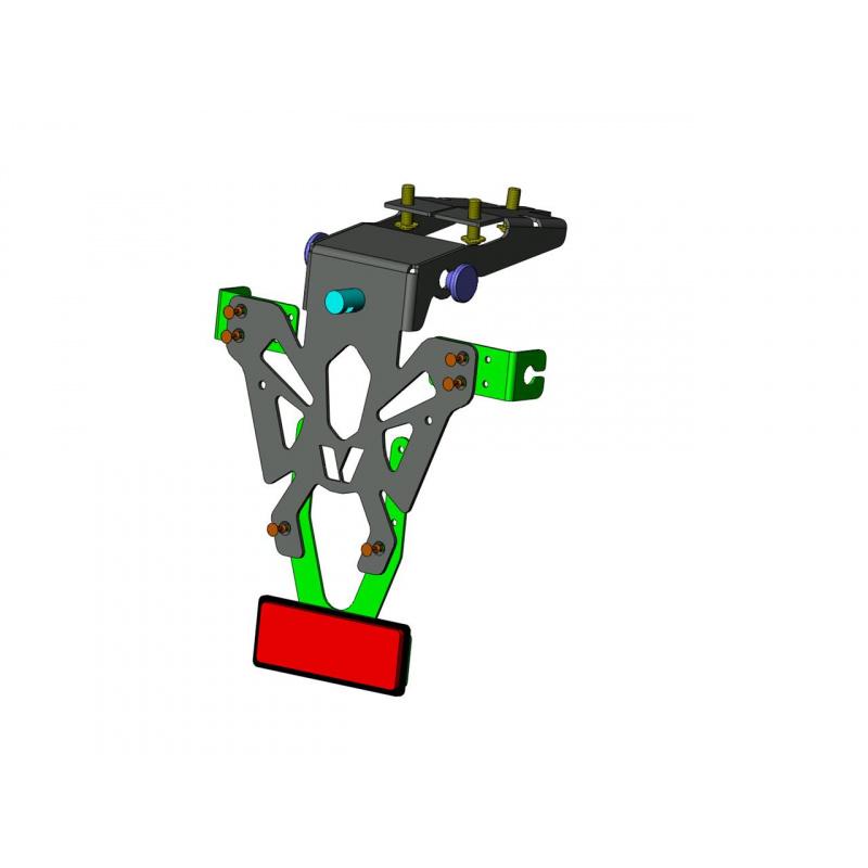 Support de plaque V PARTS noir Honda CB650F