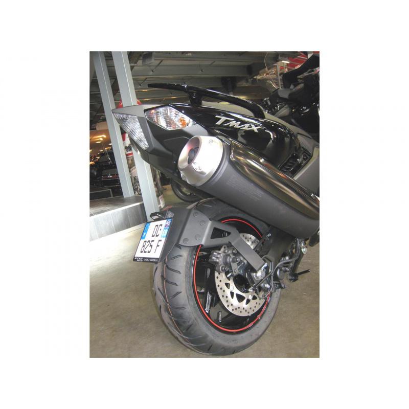 """Support de plaque ACCESS DESIGN déporté """"ras de roue"""" noir Yamaha T-Max 530"""