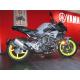 """Support de plaque ACCESS DESIGN déporté """"ras de roue"""" noir Yamaha MT-10"""