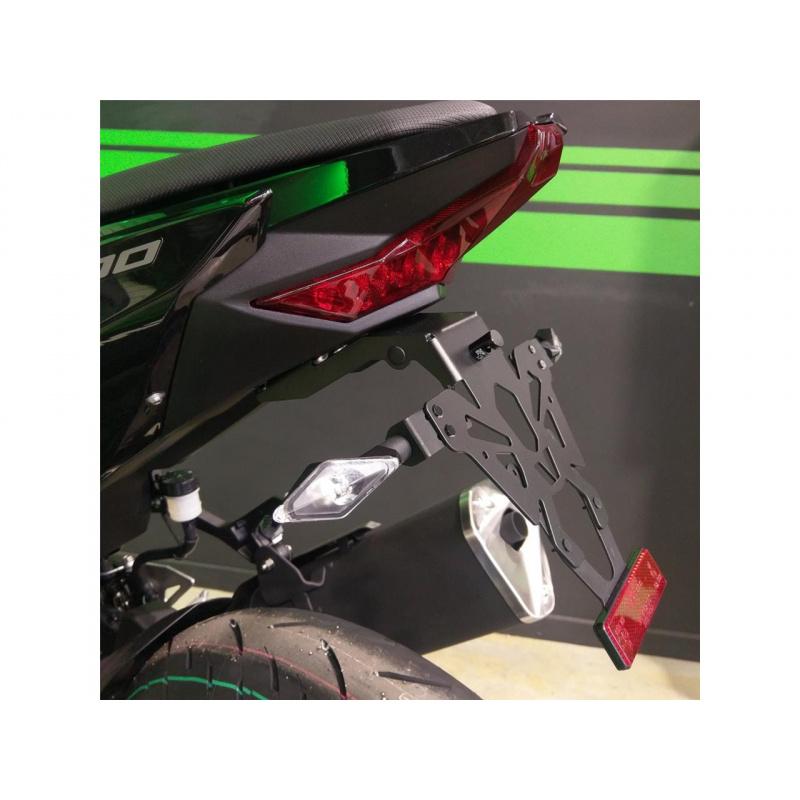 Support de plaque V-PARTS noir Kawasaki Ninja 400