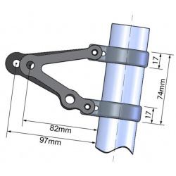 Support de phare avec insert clignotants LSL Ø45