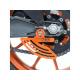 Protège couronne R&G RACING aluminium orange KTM RC125/200/390