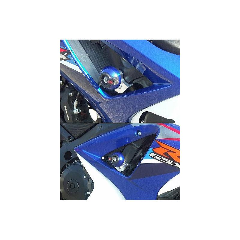 KIT FIXATION CRASH PAD POUR GSXR1000 2007, fixation sur cadre, avec platine de fixation alu