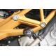 Tampons de protection R&G RACING Aero noir Aprilia Dorsoduro/Shiver 750
