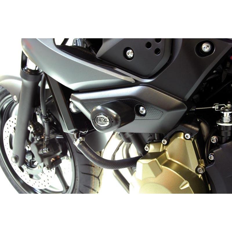 Tampons de protection R&G RACING Aero noir Yamaha XJ6 N/S Diversion