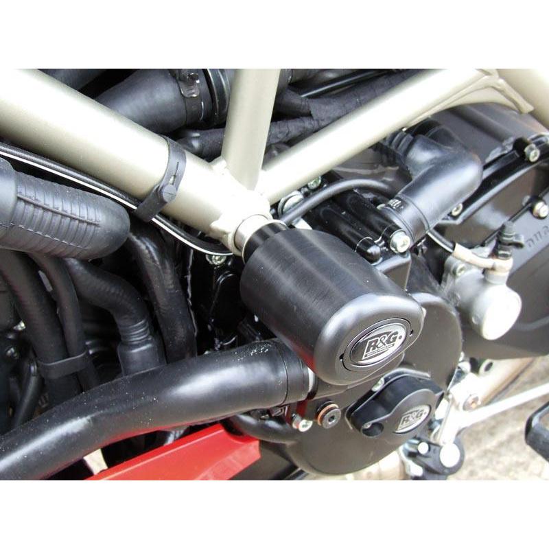 Tampons de protection R&G RACING Aero noir Ducati