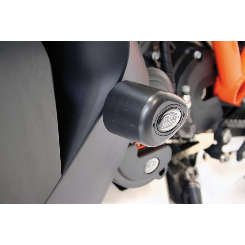 Tampons de protection R&G RACING Aero noir KTM RC8 1190/R/R Track