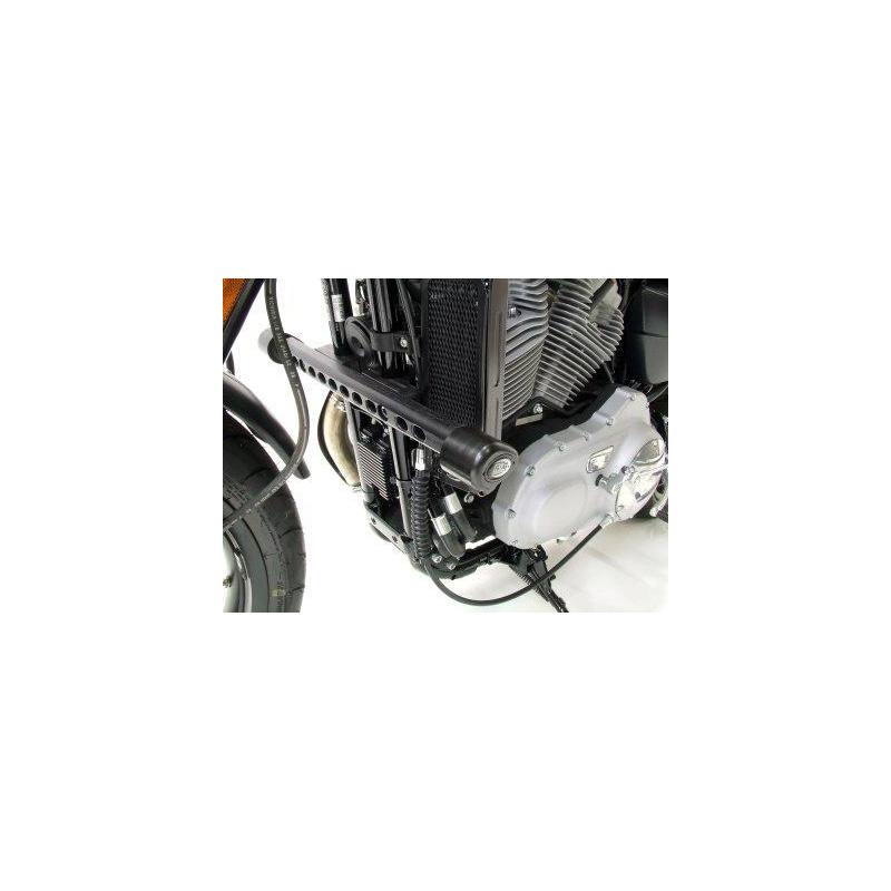 Tampons de protection R&G RACING Aero noir Harley Davidson XR1200/Sportster/X Sportster