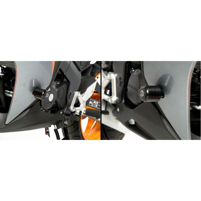 Tampons de protection R&G RACING Aero noir Honda CBR125R