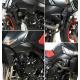 Tampons de protection R&G RACING Aero noir Suzuki GSR600/BMW S1000RR