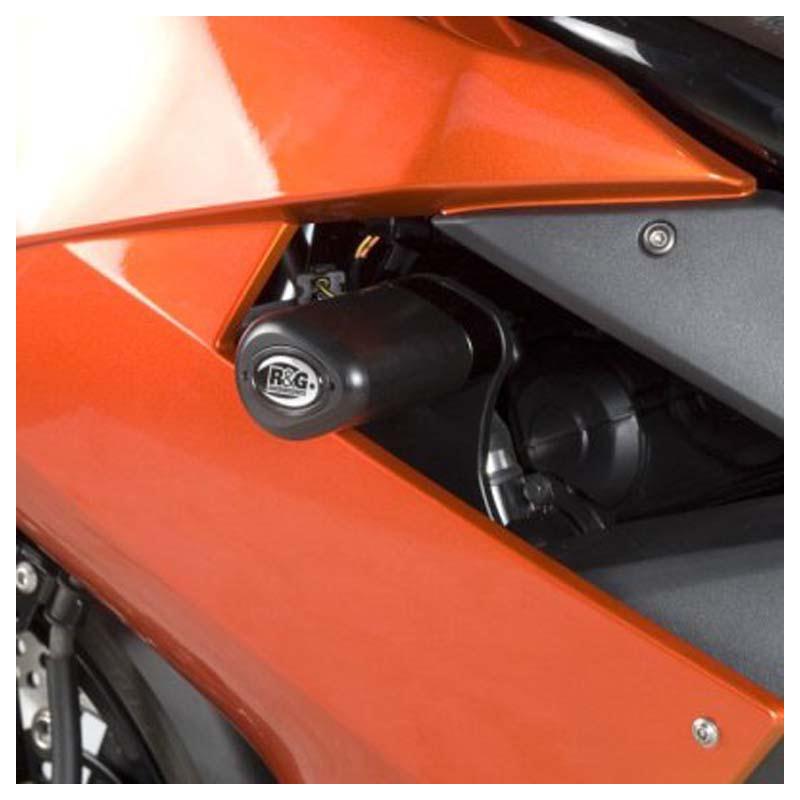 Tampons de protection R&G RACING Aero noir Kawasaki ER-6 F