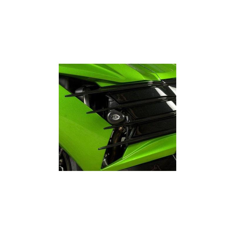 Tampons de protection R&G RACING noir Kawasaki ZZR1400