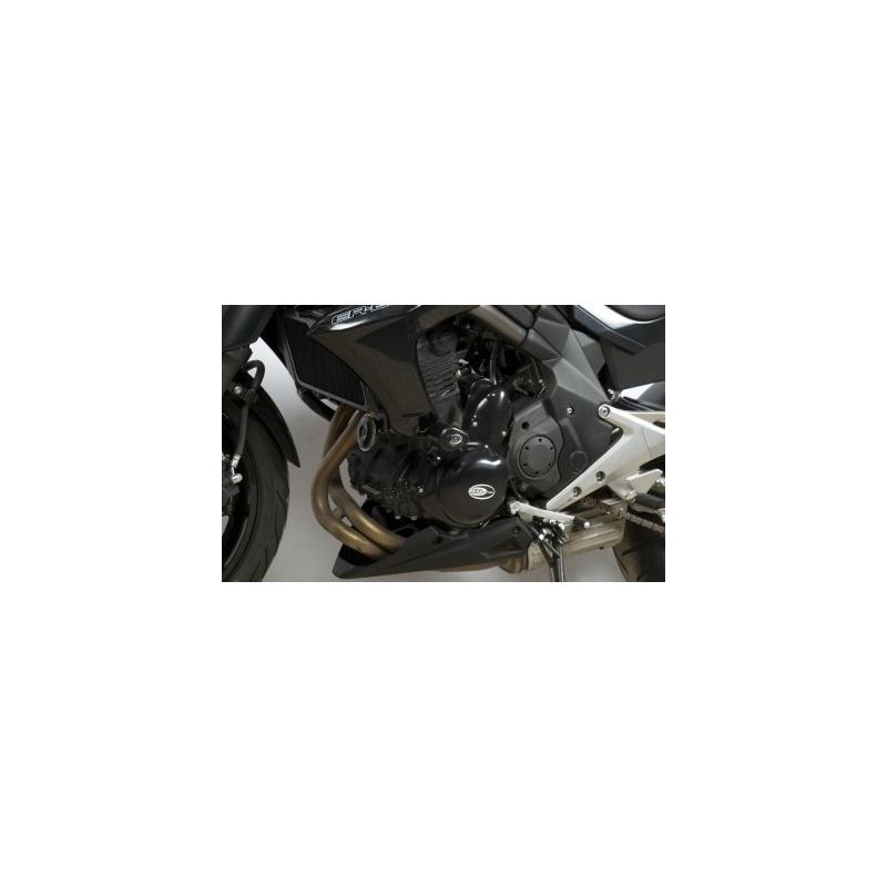 Tampons de protection R&G RACING Aero noir Kawasaki ER-6 N