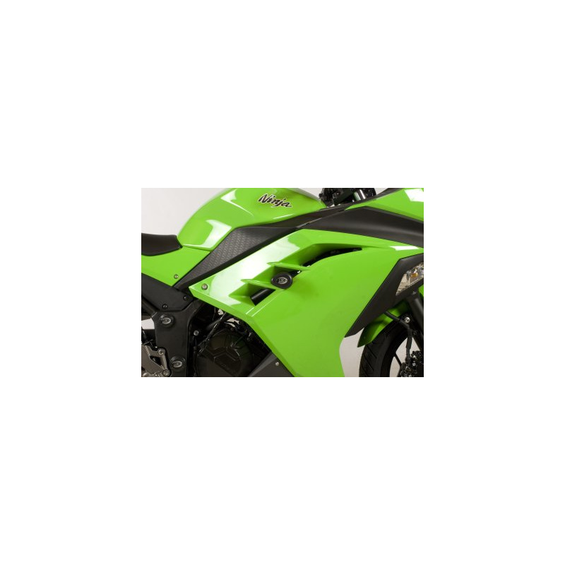 Tampons de protection R&G RACING Aero noir Kawasaki Ninja 300
