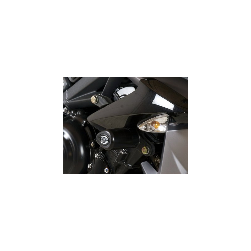 Tampons de protection R&G RACING Aero noir Triumph Daytona/Street Triple 675