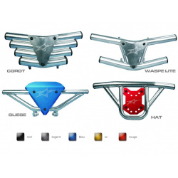 BUMPER CROSSPRO WASPE LITE PLAQUE AVANT BLEUE POUR QUAD CAN-AM