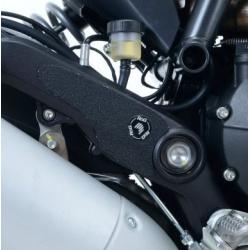 Adhésif anti-frottement R&G RACING cadre/platines repose-pieds noir 2 pièces Ducati Scrambler